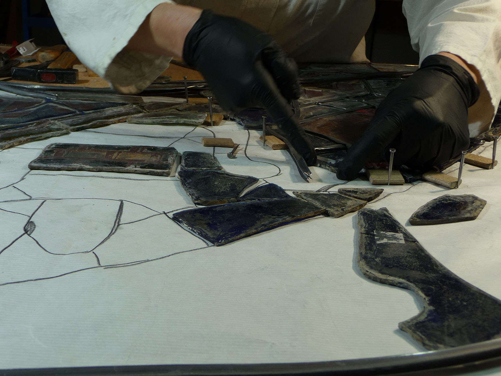 Restauration rénovation entretien vitrail vitraux Paris